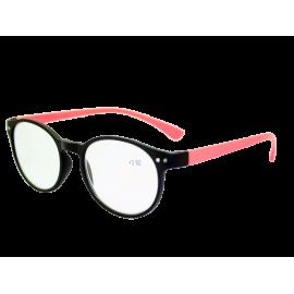 X - Reader Læsebrille Røde stænger mat sort bro