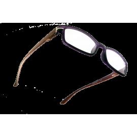 X - Reader Læsebrille mørk træ med bordeaux front
