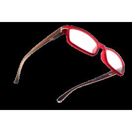 X - Reader Læsebrille træ med bordeaux front