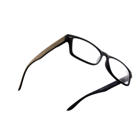 X - Reader Læsebrille lys træ med mat sort front