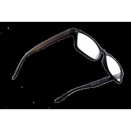X - Reader Læsebrille mørkt træ med mat sort front