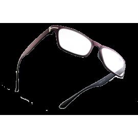 X - Reader Læsebrille Lilla træ look med sølv dekoration