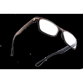 X - Reader Læsebrille træ look med sølv dekoration