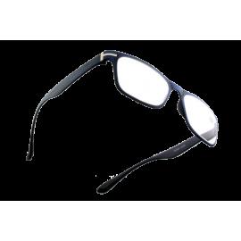 X - Reader Læsebrille Blå træ look med sølv dekoration