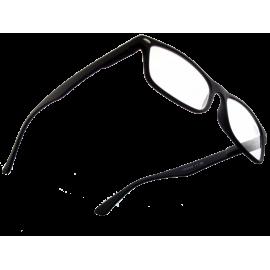 X - Reader Læsebrille mat sort gummi med flex stænger