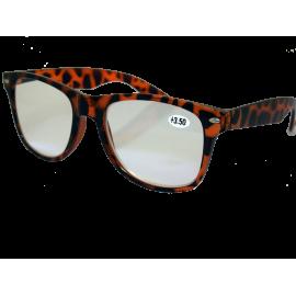 X - Reader Læsebrille Wayfarer model brun leopard