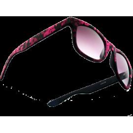 404078 Mode herrebrille pink-sort samt gradueret glas