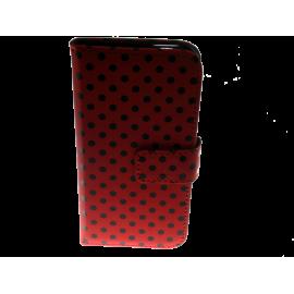 810012 IPHONE 6 cover rød m. sorte prikker - klap