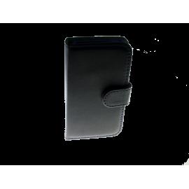 806037 IPHONE 5 sort m. blå stikning samt klap