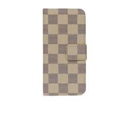 IPHONE 5 Beige/sort ternet med klap